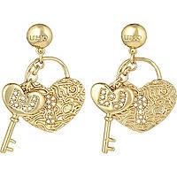 boucles d'oreille femme bijoux Liujo Brass LJ845
