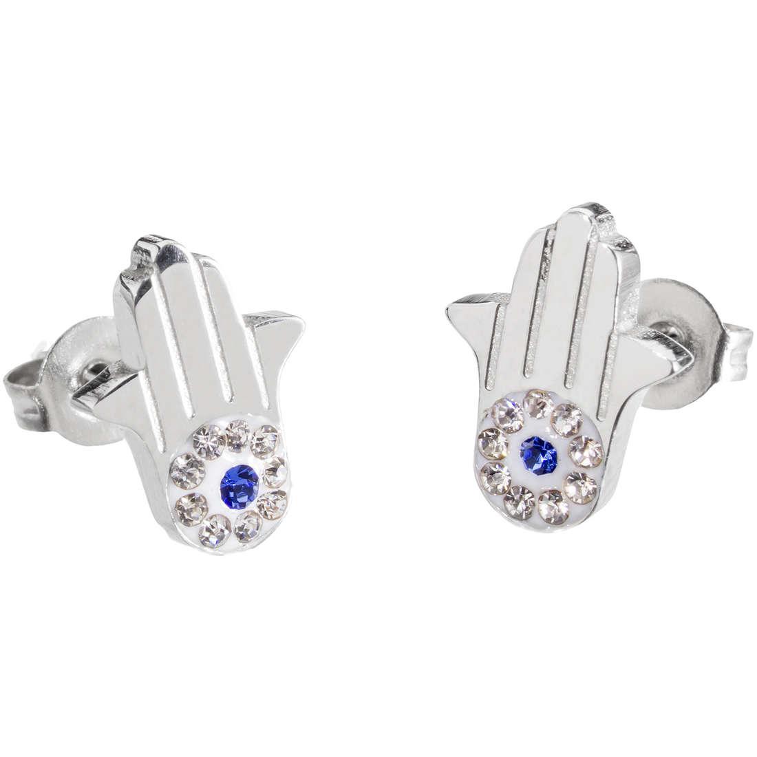 boucles d'oreille femme bijoux Marlù Mano Di Fatima 14OR021