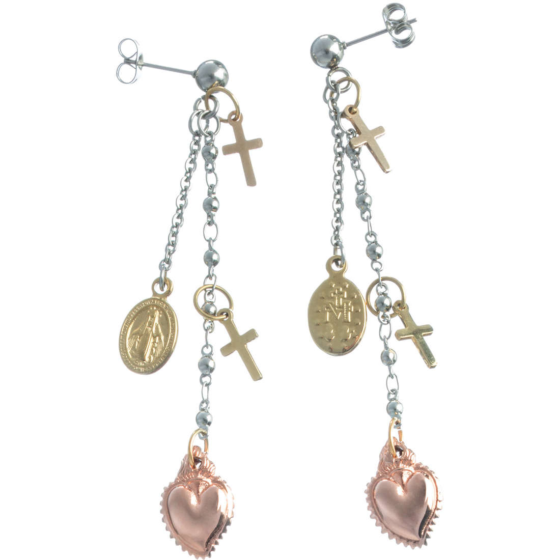 boucles d'oreille femme bijoux Marlù Sacro Cuore 13OR009