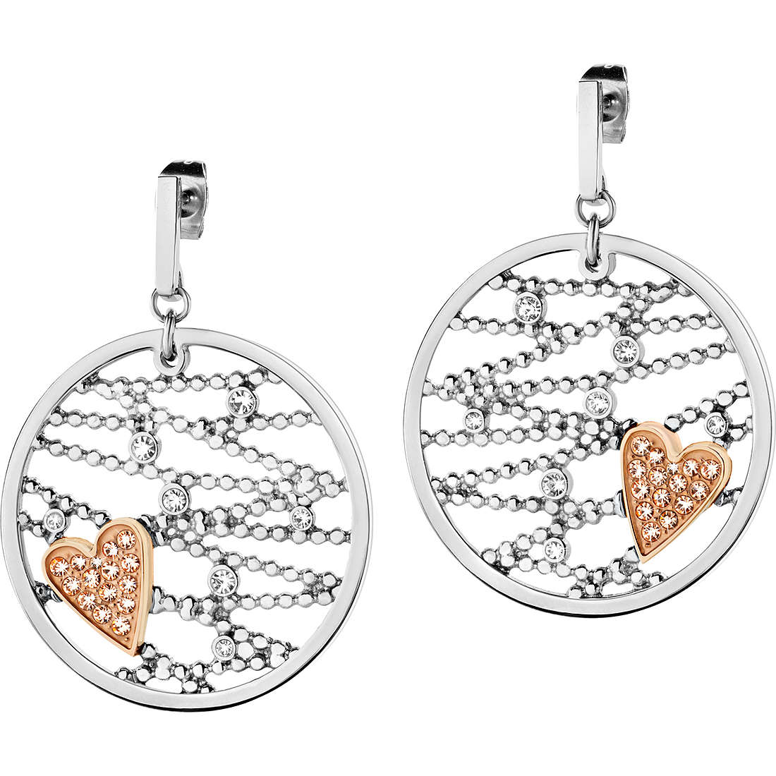 boucles d'oreille femme bijoux Morellato Cuore Mio SADA06