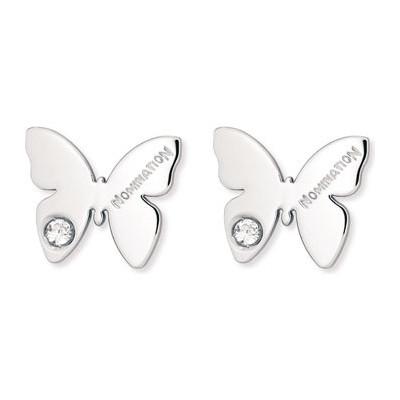 boucles d'oreille femme bijoux Nomination Butterfly 021308/001