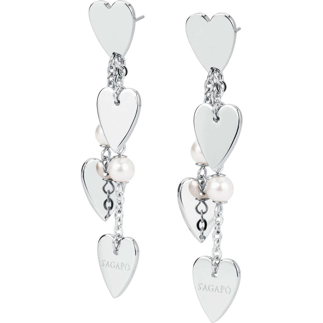 boucles d'oreille femme bijoux Sagapò Affinity SAF21