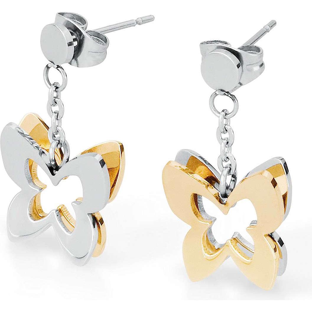 boucles d'oreille femme bijoux Sagapò BUTTERFLY SBF21
