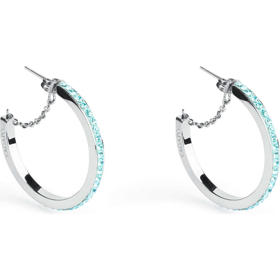 boucles d'oreille femme bijoux Sagapò Crystal ring SCR22