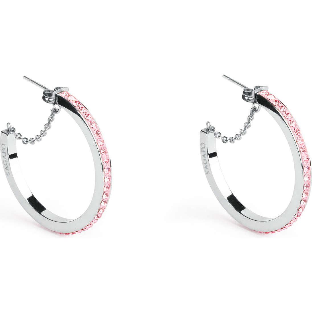 boucles d'oreille femme bijoux Sagapò Crystal ring SCR23