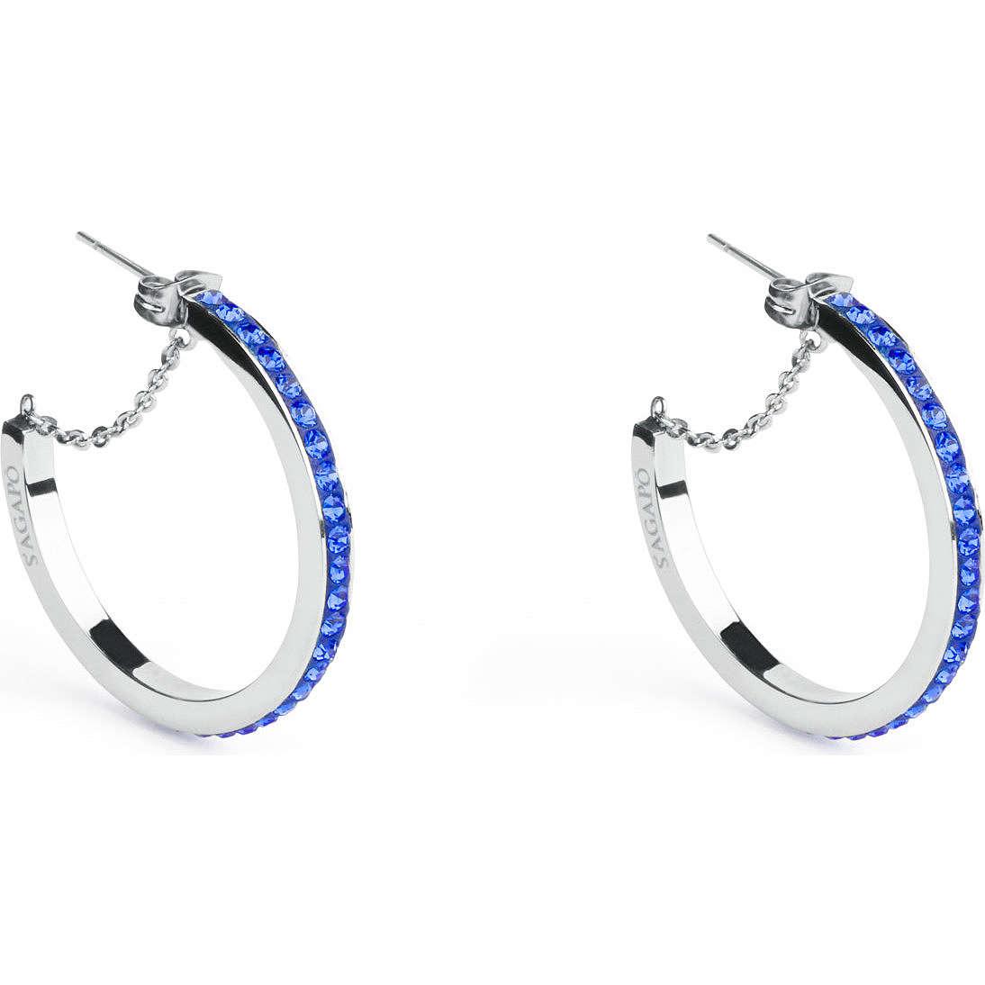 boucles d'oreille femme bijoux Sagapò Crystal ring SCR24