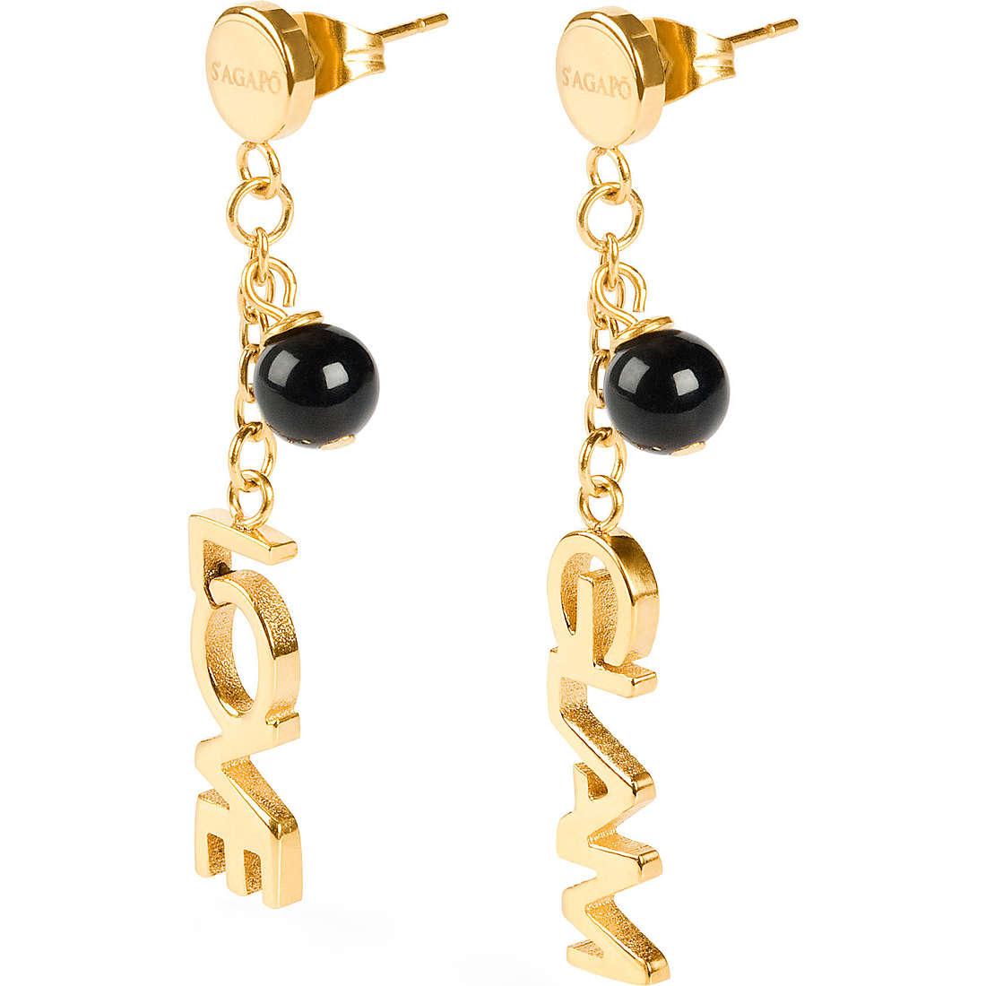 boucles d'oreille femme bijoux Sagapò Love is glam SLG05