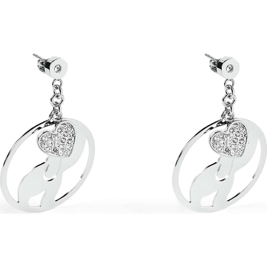 boucles d'oreille femme bijoux Sagapò Lucky Hoop SLH22