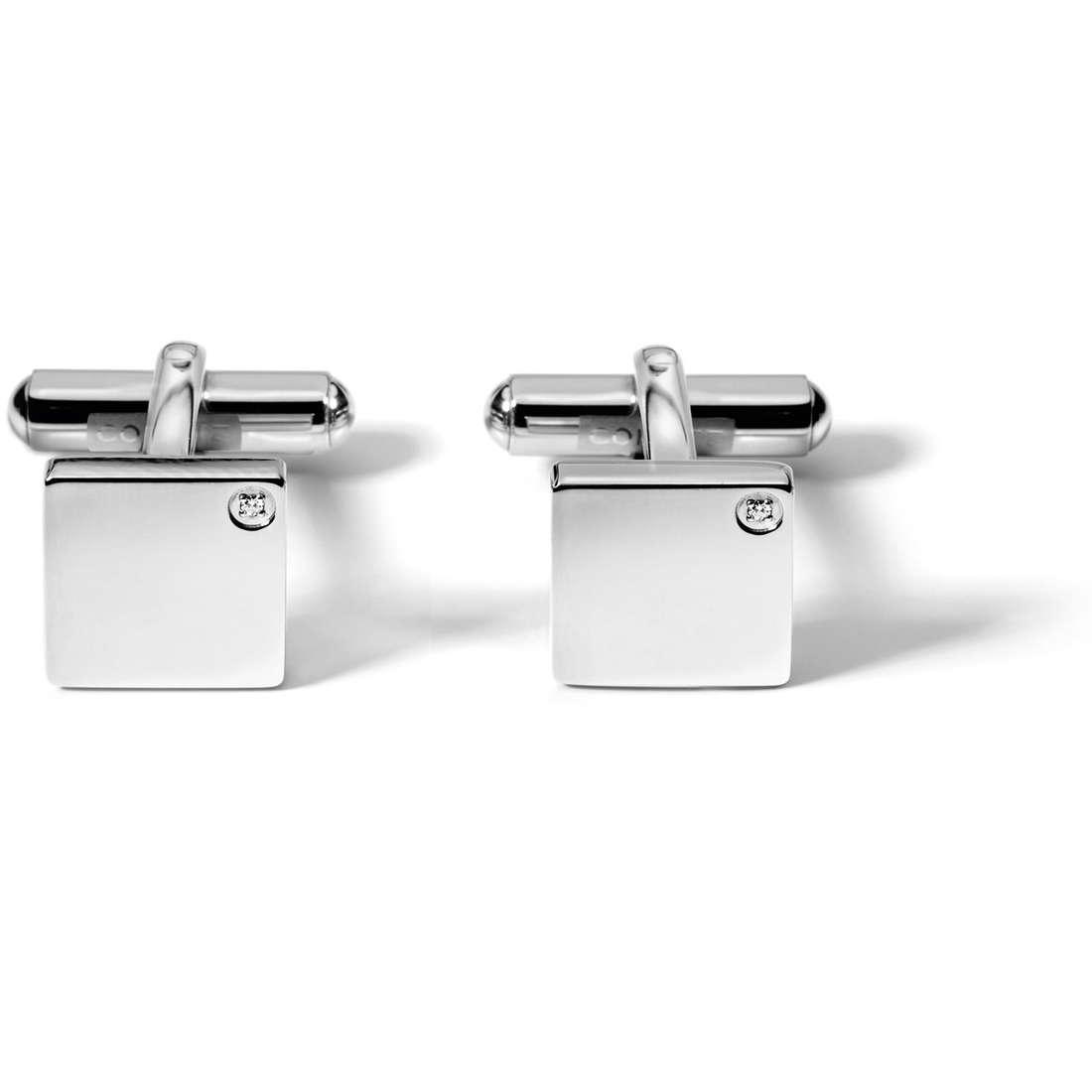 boutons de manchettes homme bijoux Comete Acciaio UGM 102
