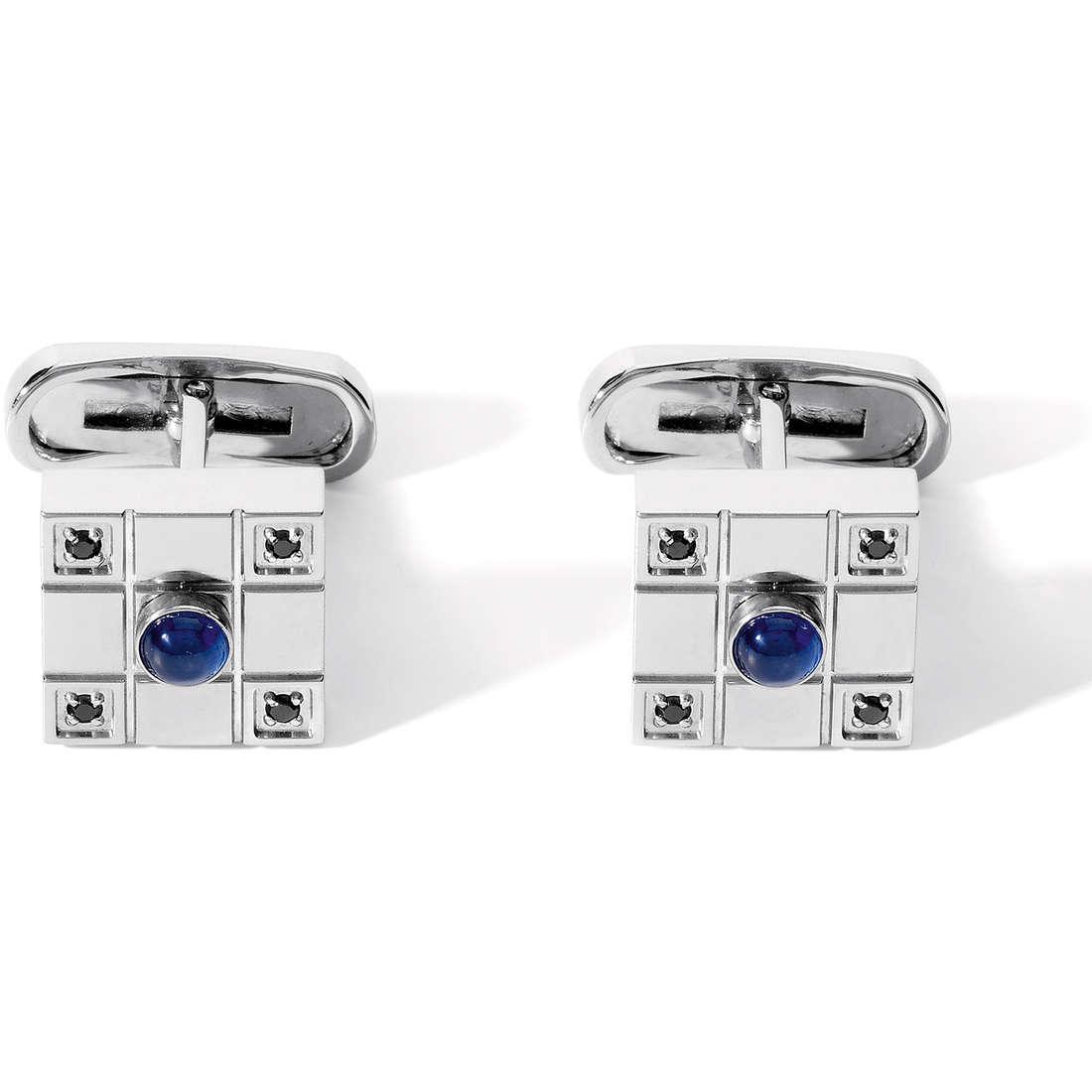boutons de manchettes homme bijoux Comete Acciaio UGM 136