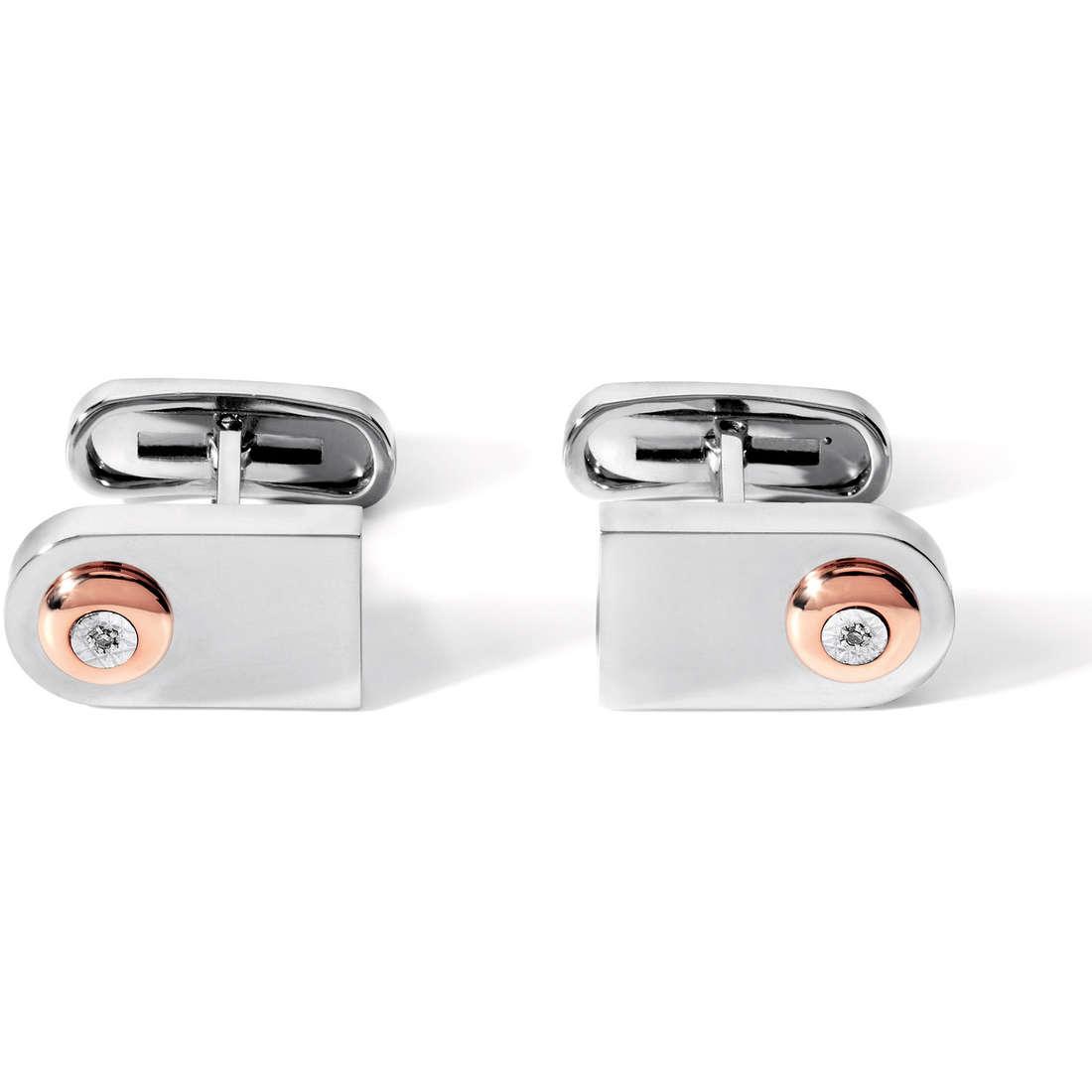 boutons de manchettes homme bijoux Comete Acciaio UGM 139
