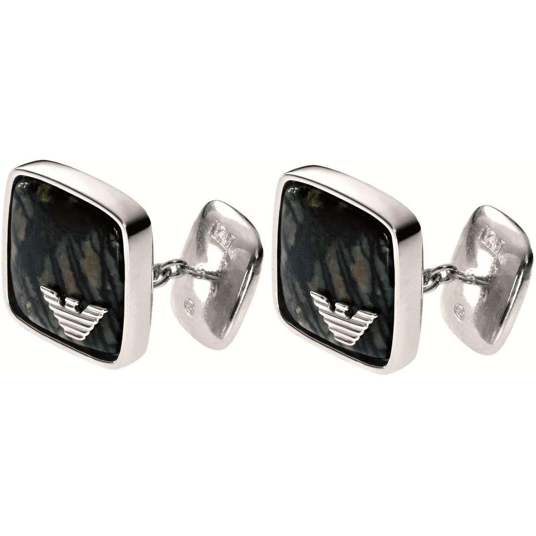 boutons de manchettes homme bijoux Emporio Armani EG2753040