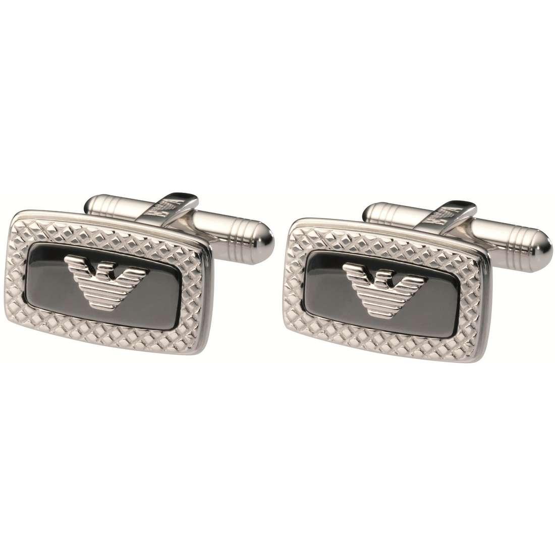 boutons de manchettes homme bijoux Emporio Armani EG2765040