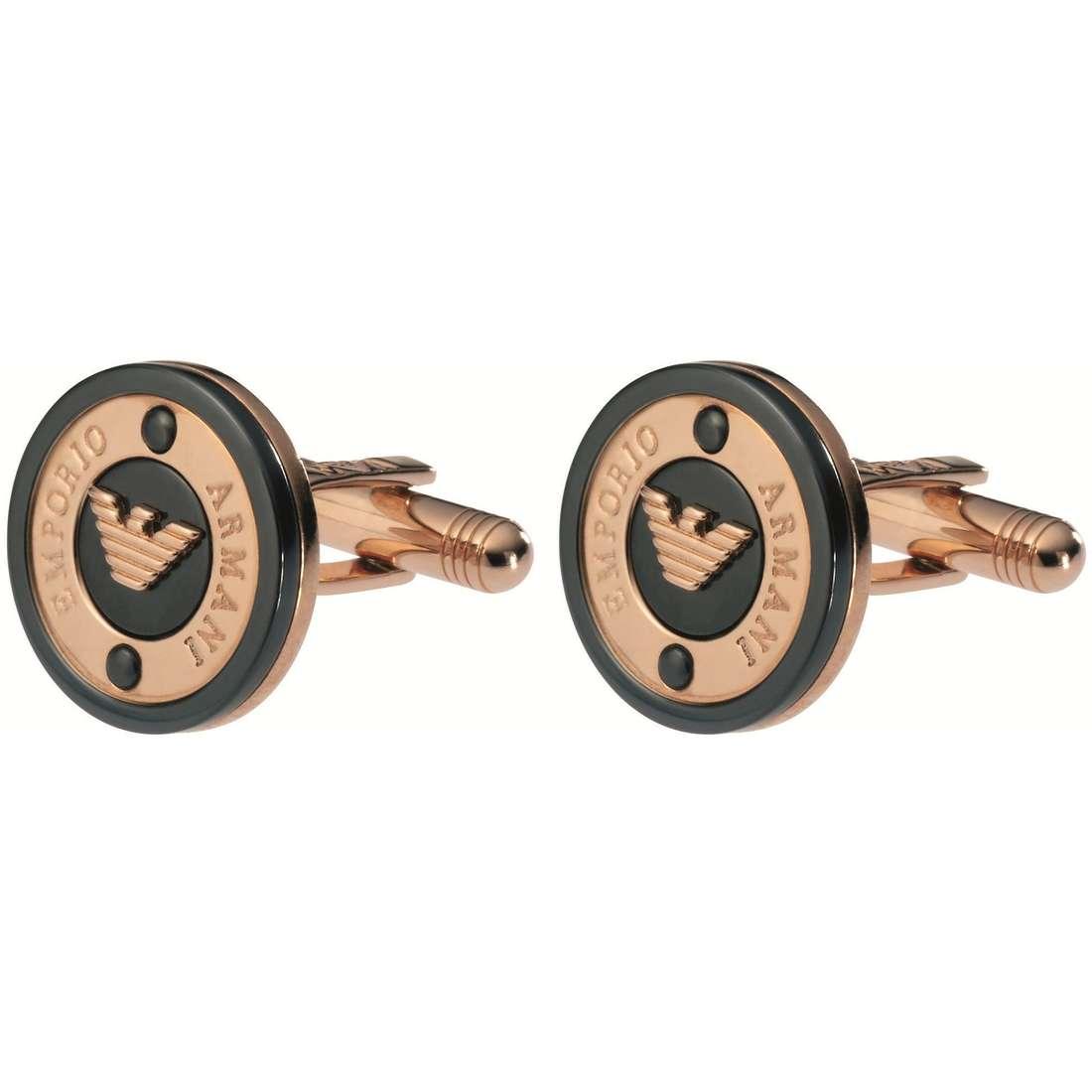 boutons de manchettes homme bijoux Emporio Armani EG2774221