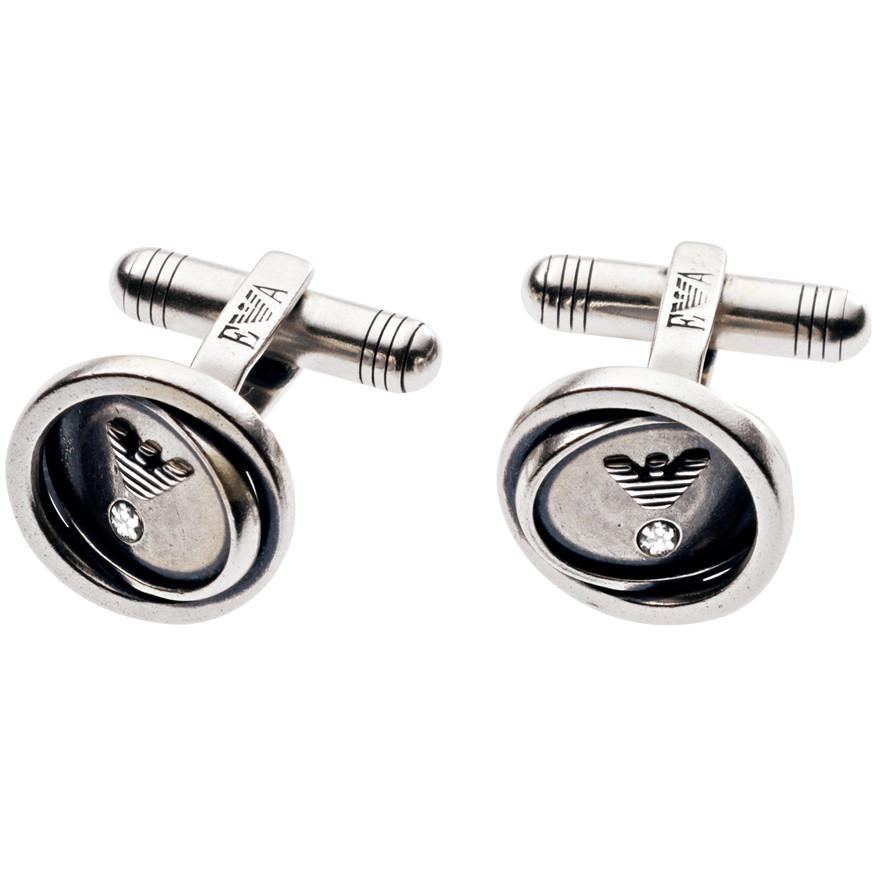 boutons de manchettes homme bijoux Emporio Armani EG2829040