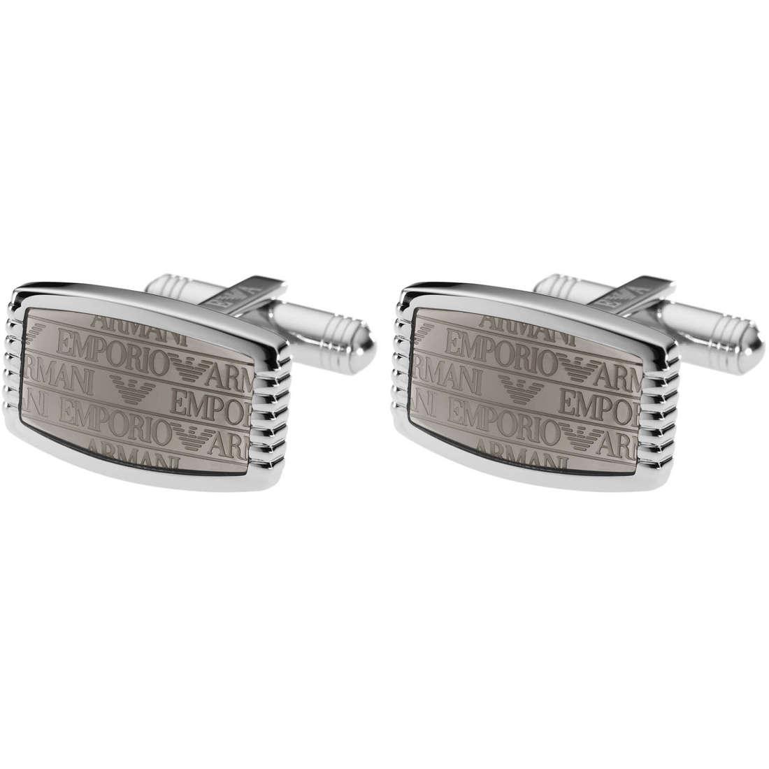 boutons de manchettes homme bijoux Emporio Armani EGS1554040