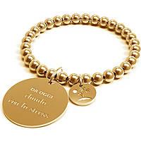 Bracciale Donna 10 Buoni Propositi Chiudo Con Lo Stress Gold Collezione Classic Gold B4307/GO