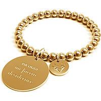 Bracciale Donna 10 Buoni Propositi Mi Faccio Desiderare Gold Collezione Classic Gold B4306/GO