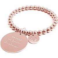 Bracciale Donna 10 Buoni Propositi Mi Faccio Desiderare Rose Collezione Classic Rose Gold B4306/RO