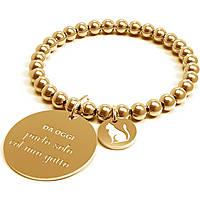 Bracciale Donna 10 Buoni Propositi Parlo Solo Col Mio Gatto Go Collezione Classic Gold B4436/GO