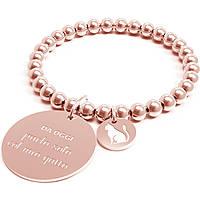 Bracciale Donna 10 Buoni Propositi Parlo Solo Col Mio Gatto Ro Collezione Classic Rose Gold B4436/RO