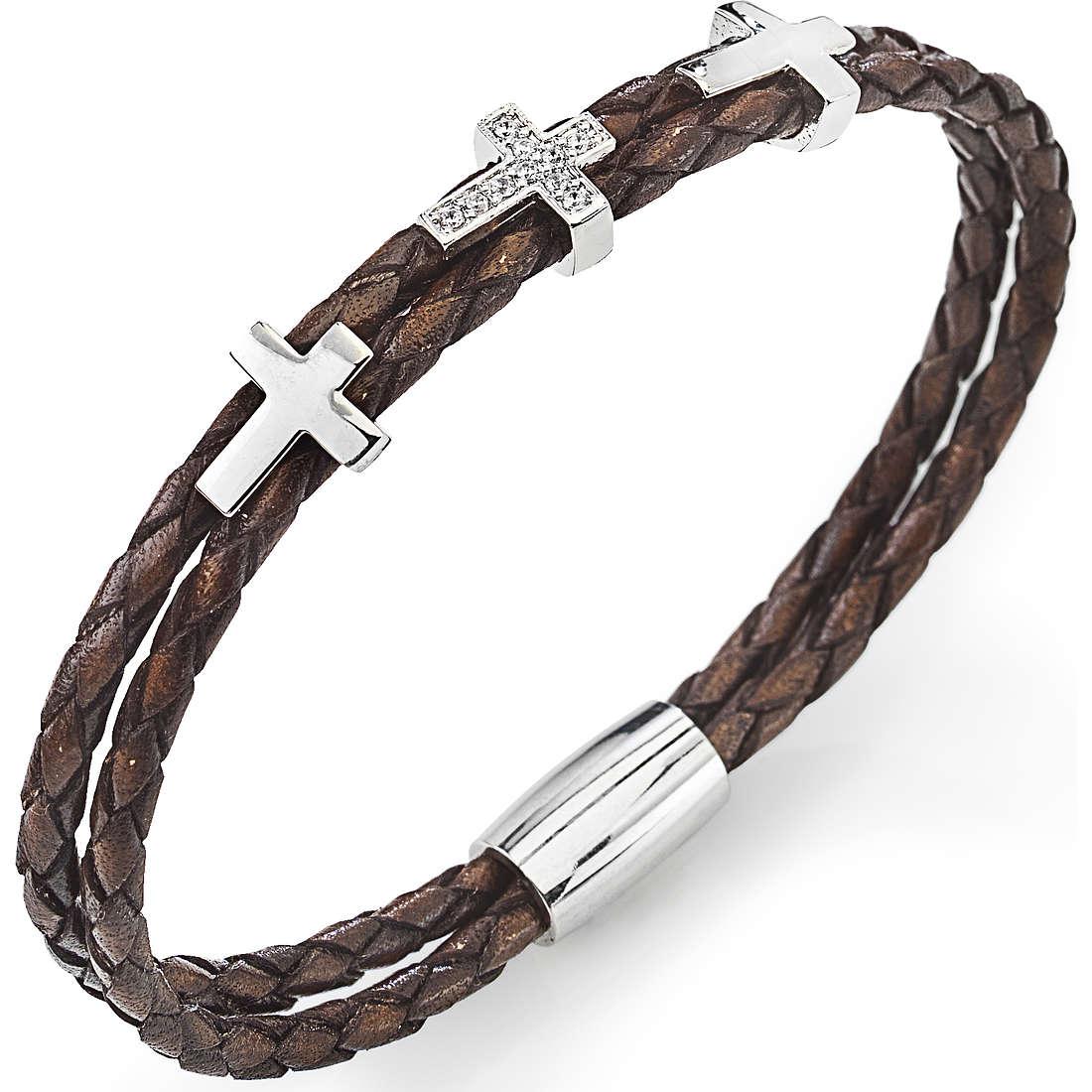 bracciale donna gioielli Amen Croce CR305B-19
