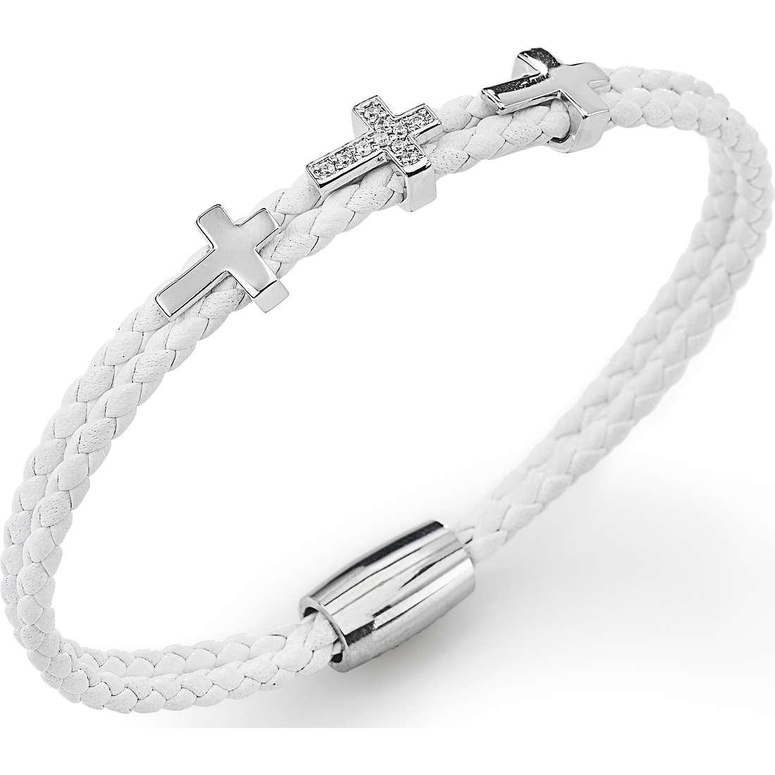 bracciale donna gioielli Amen Croce CR307B-18
