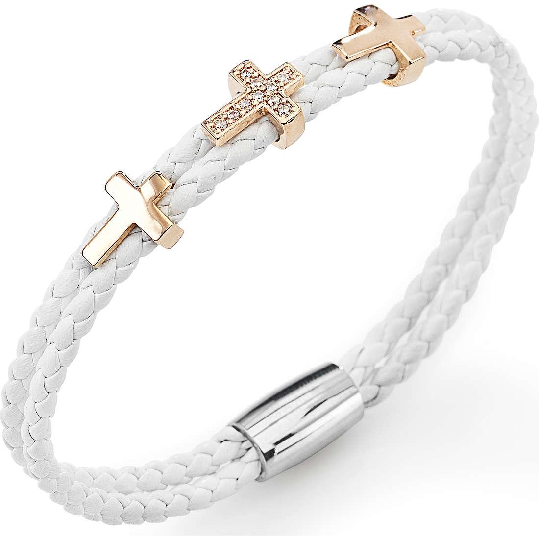 bracciale donna gioielli Amen Croce CR307R-19