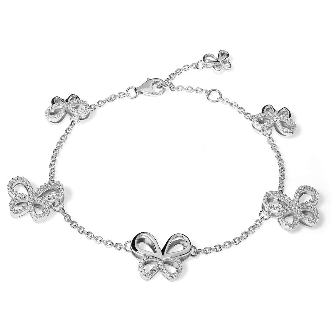 bracciale donna gioielli Comete Farfalle BRA 139