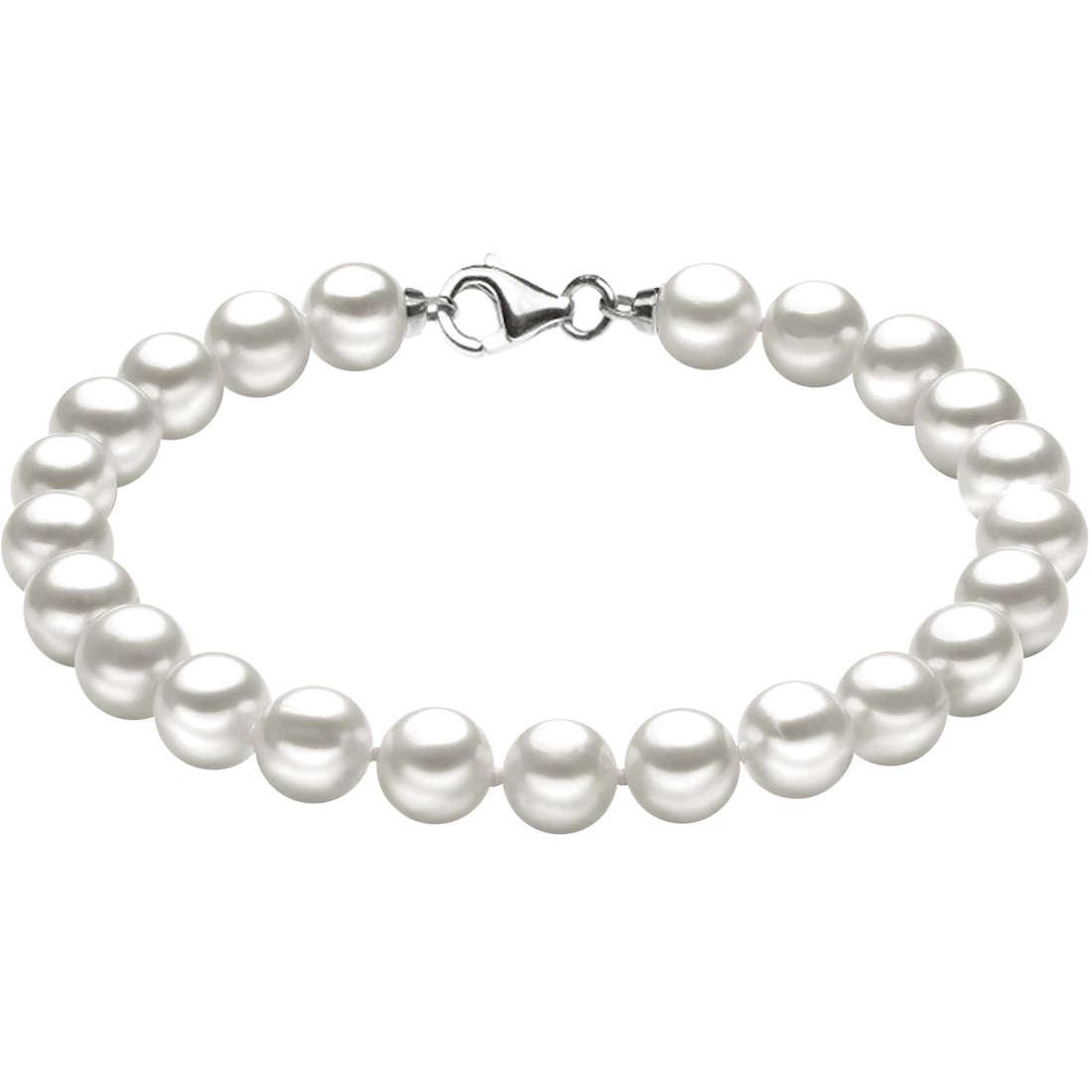 bracciale donna gioielli Comete Perle Argento BRQ 110 S