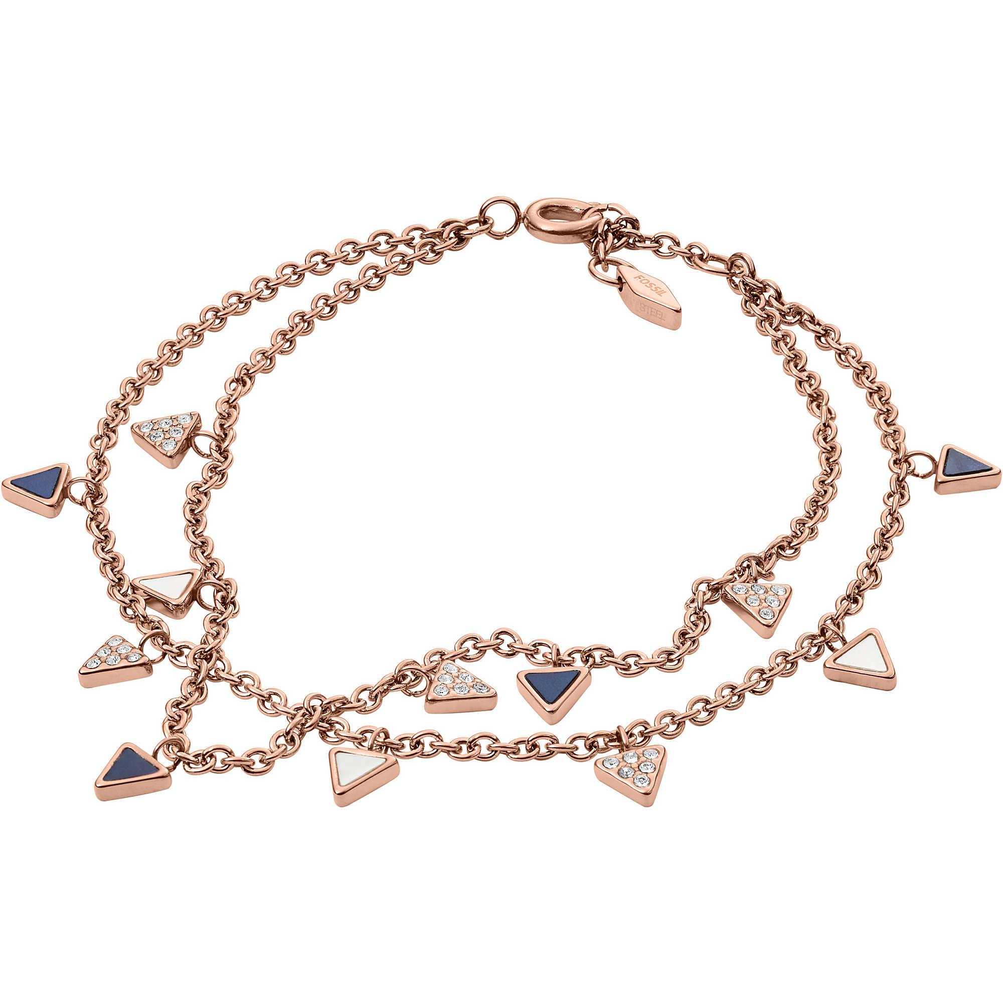 684d57883564 bracciale donna gioielli Fossil Fashion JF02765791 bracciali Fossil