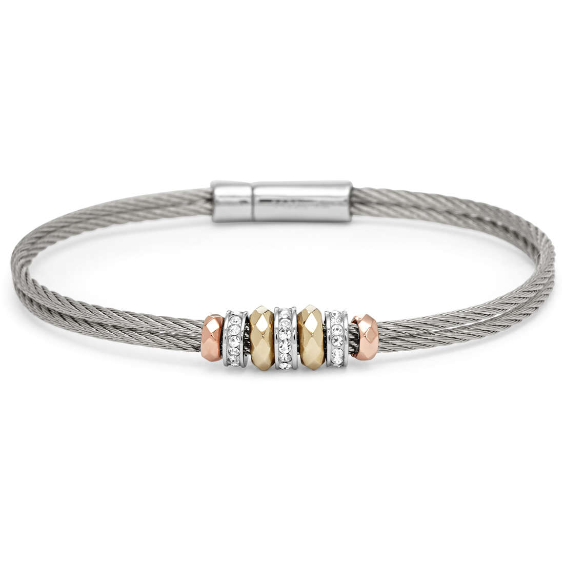 bracciale donna gioielli Fossil JF00989998