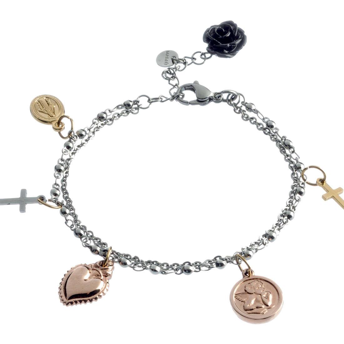 bracciale donna gioielli Marlù Sacro Cuore 13BR018
