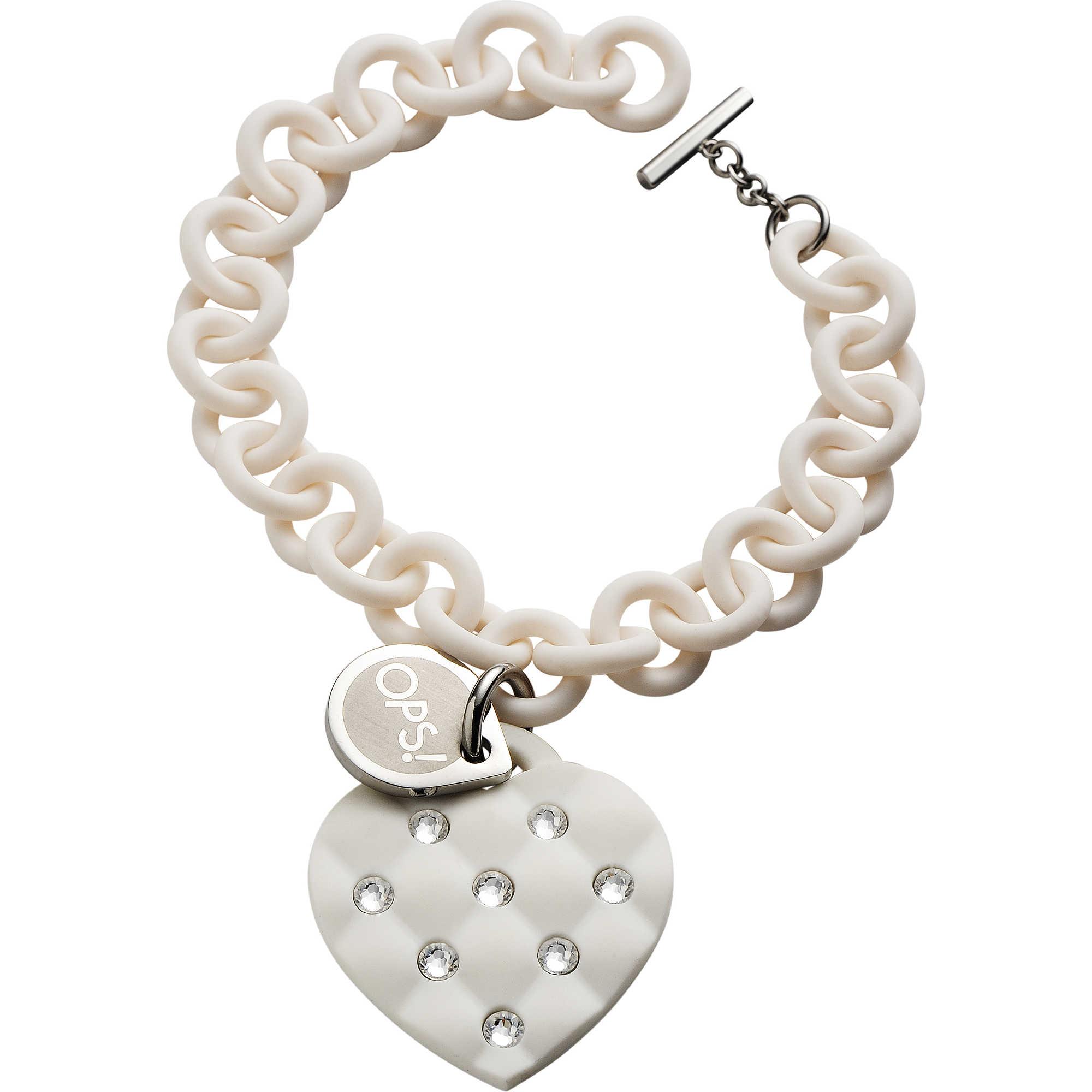 negozio online 7f5a5 2b942 bracciale donna gioielli Ops Objects Matelassè Crystal OPSBR-230