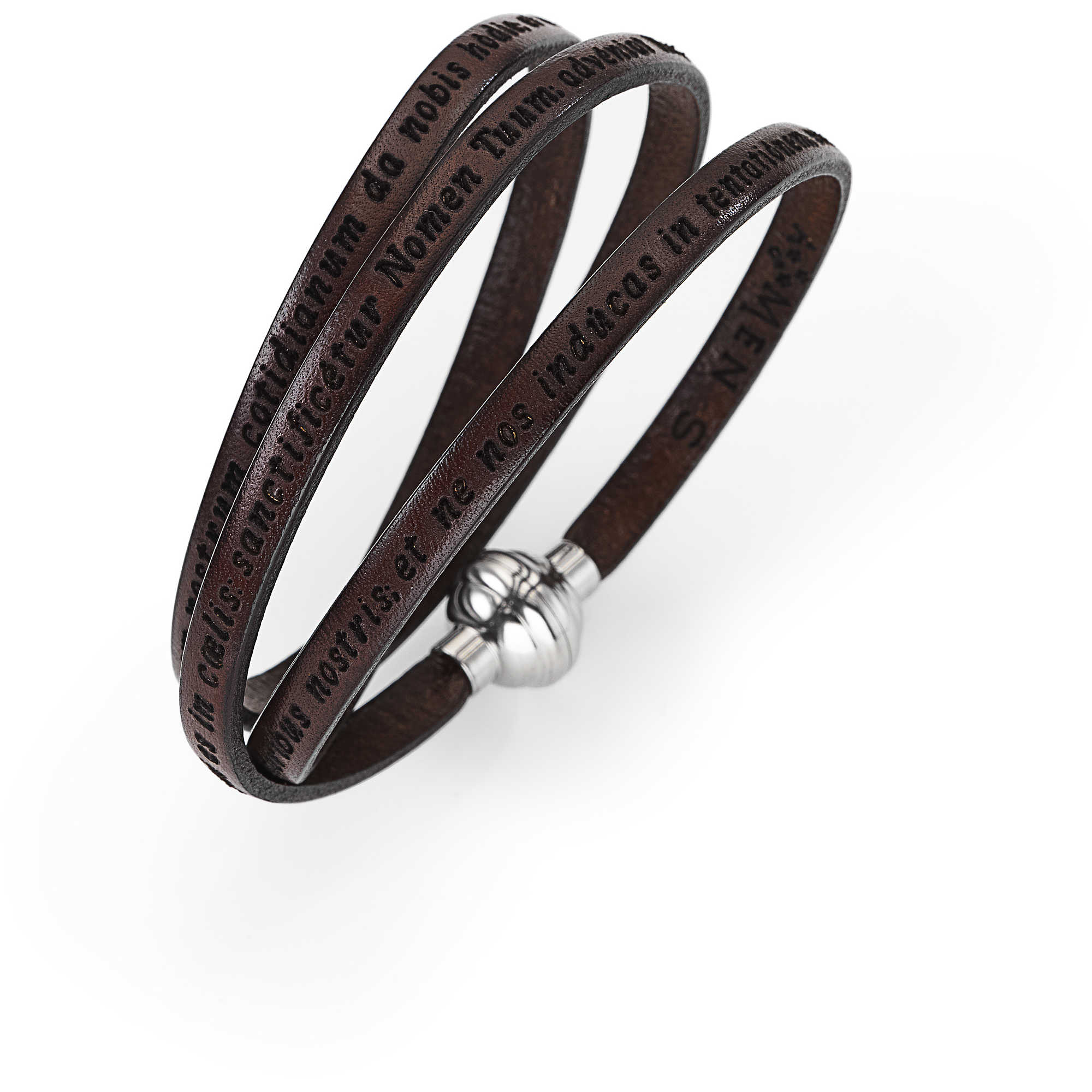 design senza tempo eb0c0 168dd bracciale unisex gioielli Amen Padre Nostro Latino MY-PNLA05 ...