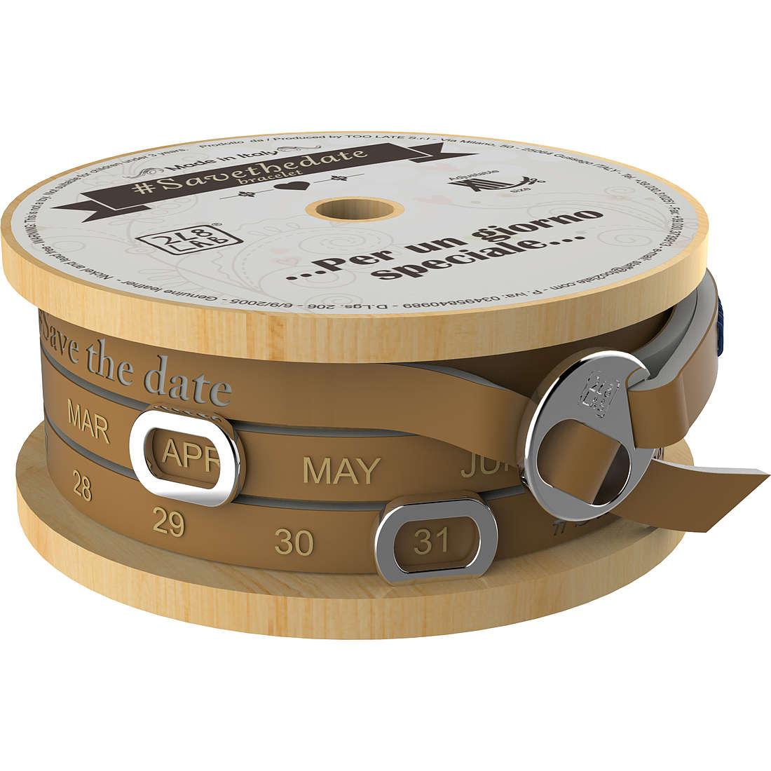 bracciale unisex gioielli Too late Save The Date 8052745222966