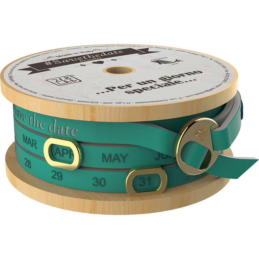 bracciale unisex gioielli Too late Save The Date 8052745223062