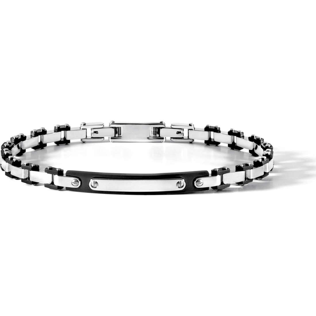 bracciale uomo gioielli Comete Acciaio UBR 503