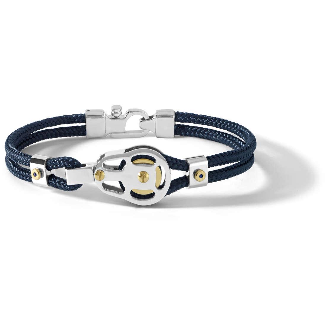 bracciale uomo gioielli Comete Blu di Genova UBR 727