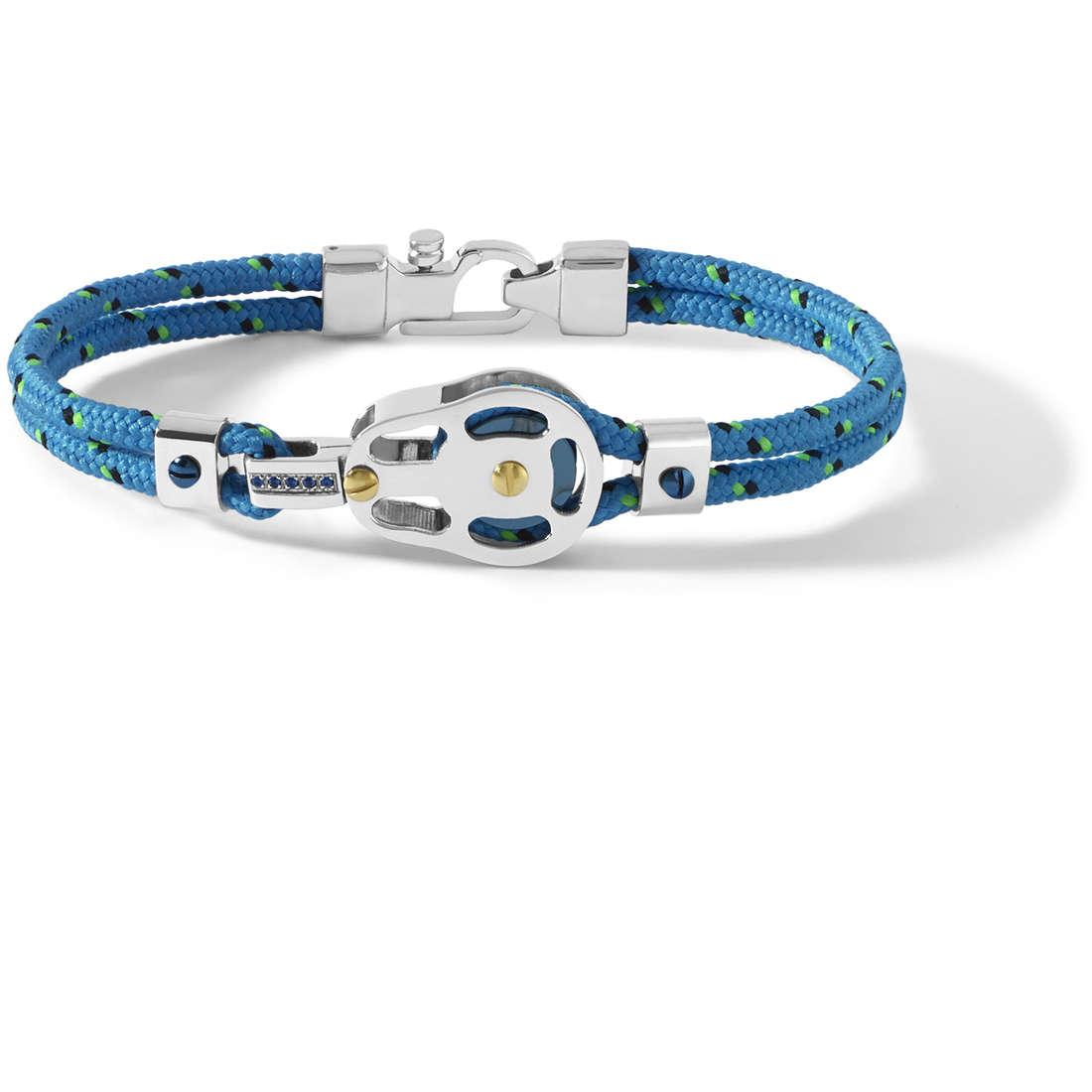 bracciale uomo gioielli Comete Blu di Genova UBR 728