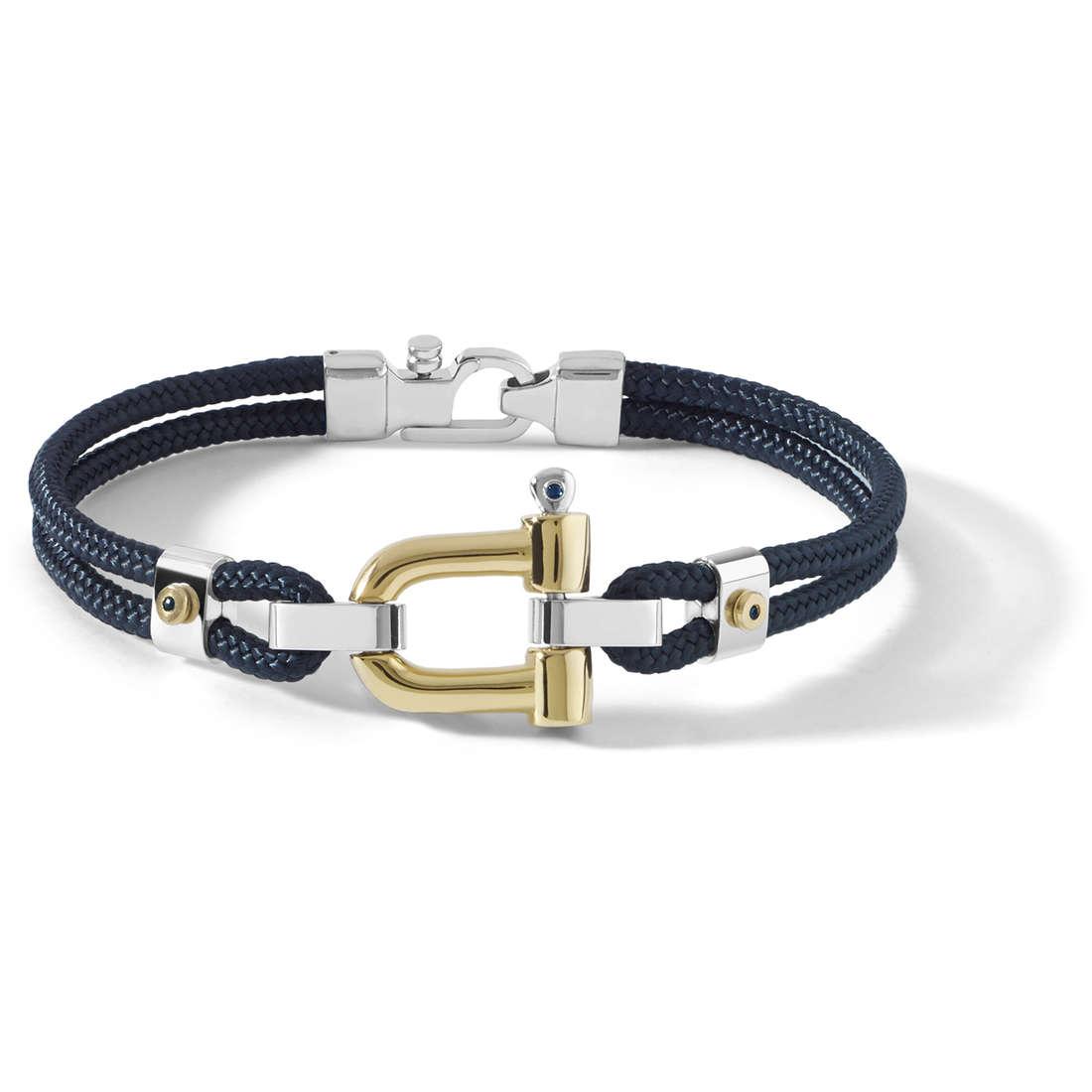 bracciale uomo gioielli Comete Blu di Genova UBR 729