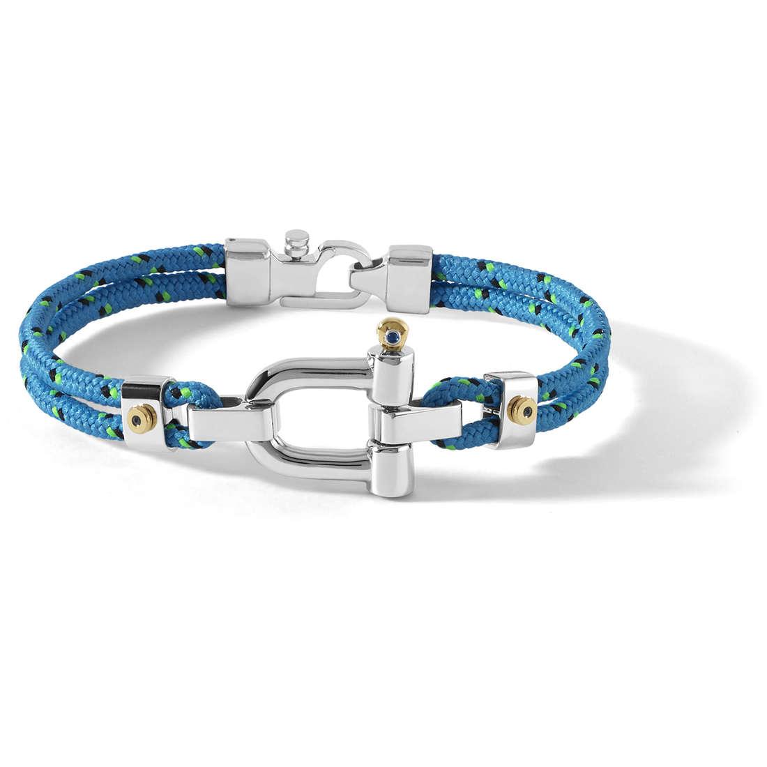 bracciale uomo gioielli Comete Blu di Genova UBR 731