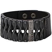 bracciale uomo gioielli Diesel Leather/Steel DXM0579040