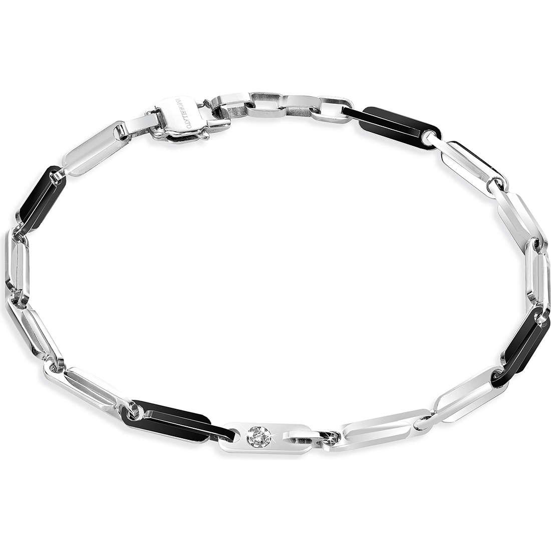 bracciale uomo gioielli Morellato Black & White SKO08