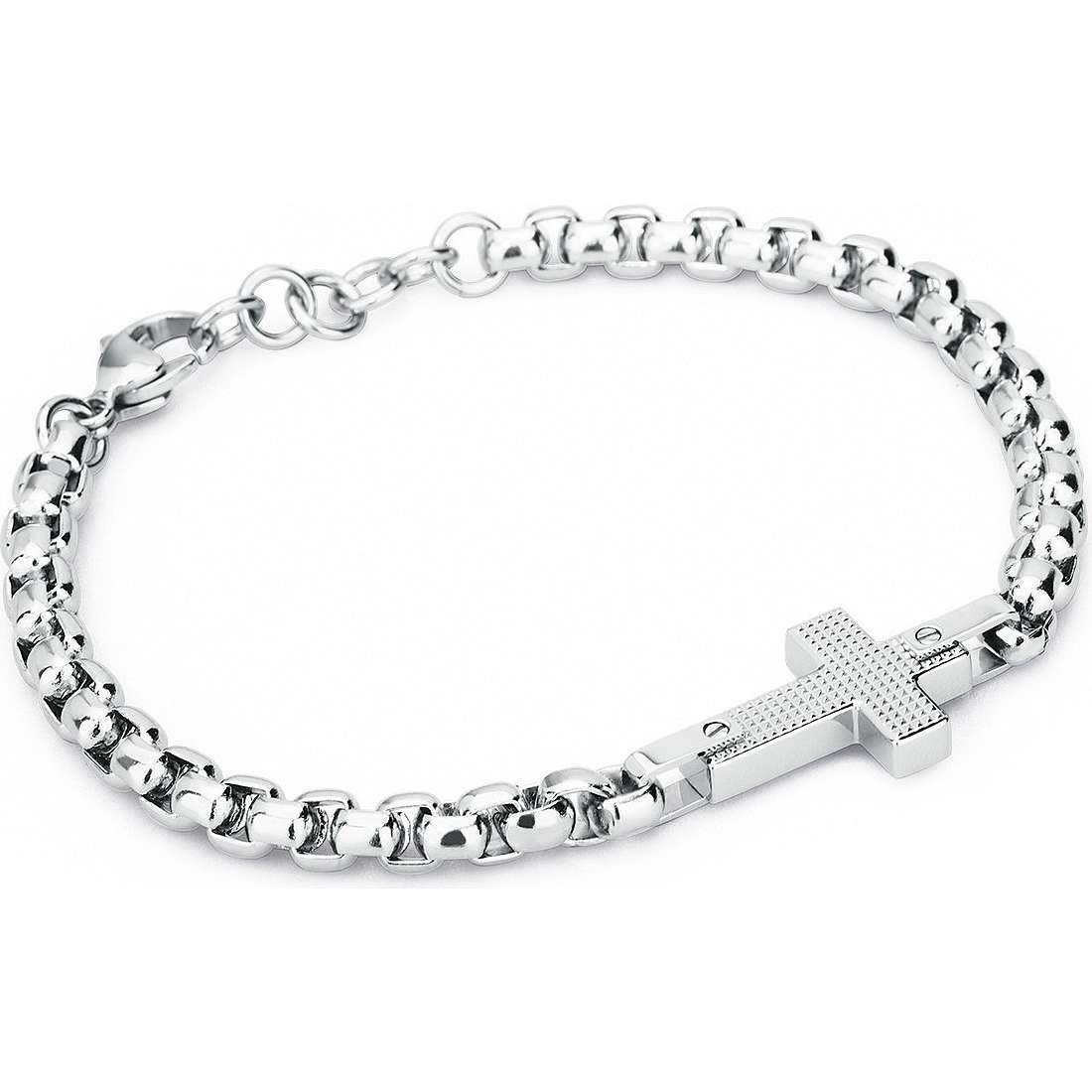 bracciale uomo gioielli Sagapò Croix SCX12