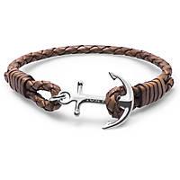 bracciale uomo gioielli Tom Hope Cognac TM0222