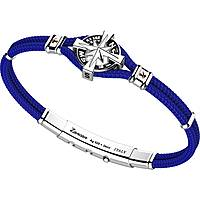 bracciale uomo gioielli Zancan Kompass EXB862R-BL