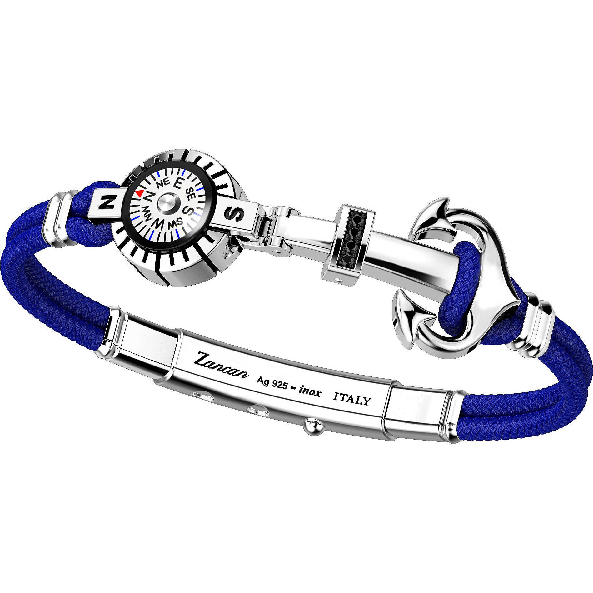 5f737258544d0d bracciale uomo gioielli Zancan Regata EXB633-BL bracciali Zancan