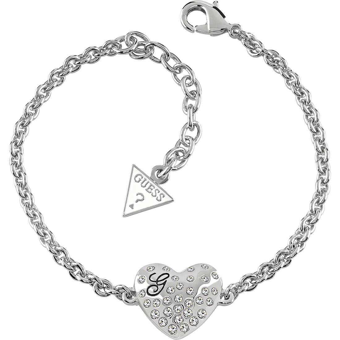 bracelet femme bijoux Guess GLOSSY HEARTS UBB51492