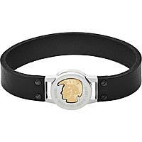 bracelet homme bijoux Diesel Leather/Steel DX1125040